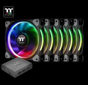 Thermaltake Riing Plus 14 RGB Radiator Fan TT Premium Edition -5Pack- (CL-F057-PL14SW-A)