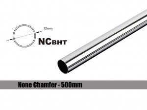 Bitspower None Chamfer Brass Hard Tubing OD12MM Shining Silver - Length 500 MM