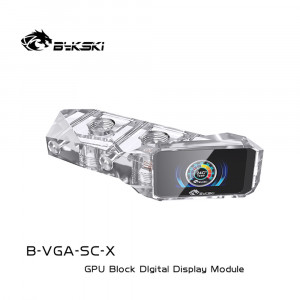 Bykski B-VGA-SC-X GPU BLOCK Digital thermometer LCD color screen